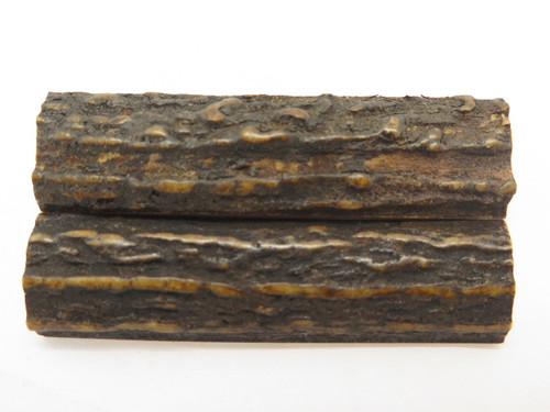 INDIA SAMBAR STAG SCALE SLAB FOLDING FIXED KNIFE MAKING HANDLE GRIP BLANK (44)