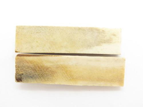 "India Sambar Stag 0.75x2.875"" Scale Slab Folding Knife Making Handle Blank (47)"