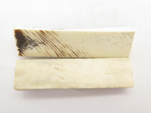 "India Sambar Stag 0.75x2.875"" Scale Slab Folding Knife Making Handle Blank (50)"