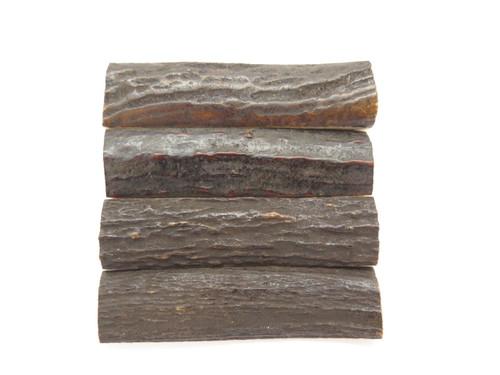 "India Sambar Stag 0.75x2.875"" Scale Slab Folding Knife Making Handle Blank (56)"