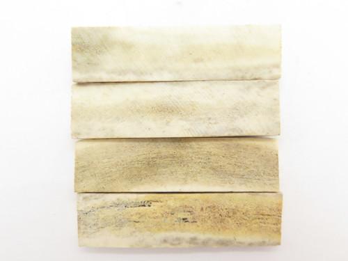 "India Sambar Stag 0.75x2.875"" Scale Slab Folding Knife Making Handle Blank (60)"