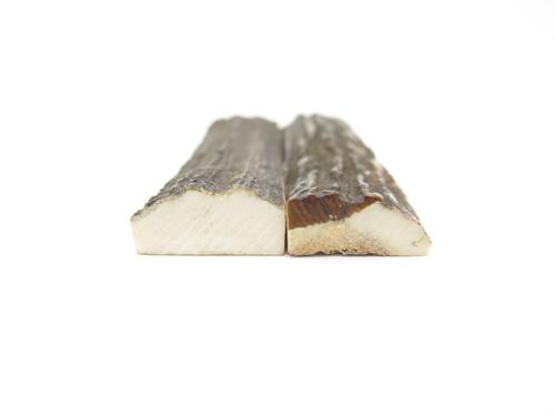 "India Sambar Stag 0.75x2.875"" Scale Slab Folding Knife Making Handle Blank (05)"