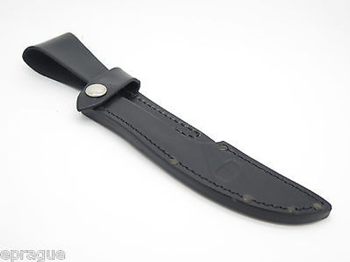 BUCK 541 OPEN SEASON BLACK LEATHER FIXED BLADE BONING KNIFE SHEATH FACTORY 2nd