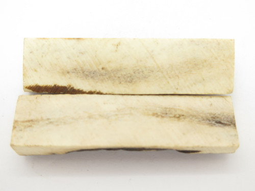"India Sambar Stag 0.75x2.875"" Scale Slab Folding Knife Making Handle Blank (24)"