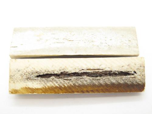 INDIA SAMBAR STAG SCALE SLAB FOLDING FIXED KNIFE MAKING HANDLE GRIP BLANK (25)