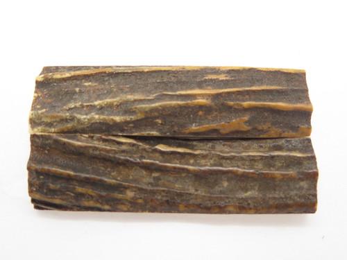 "India Sambar Stag 0.75x2.875"" Scale Slab Folding Knife Making Handle Blank (39)"