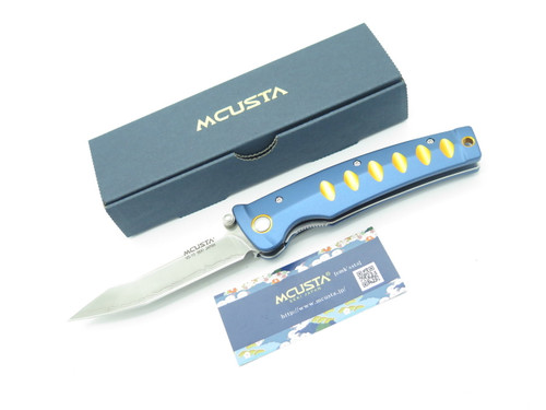 MCUSTA SEKI JAPAN KATANA MC-42C GOLD JAPANESE TANTO VG-10 SAN MAI FOLDING KNIFE