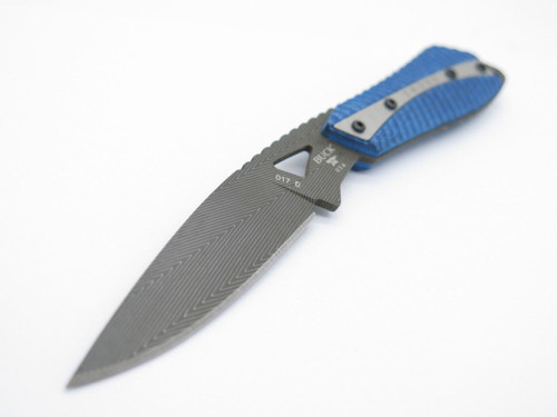 BUCK 017 0017CFSLE THORN DAMASCUS CARBON FIBER CUSTOM LIMITED FIXED BLADE KNIFE