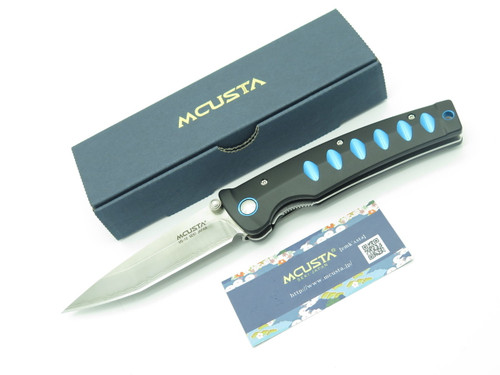 Mcusta Seki Japan Katana MC-41C Black Tanto VG-10 San Mai Folding Pocket Knife