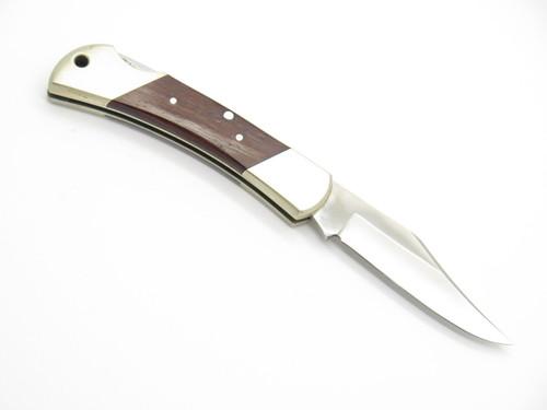 Vtg Tiger 4 Unmarked Handmade German 440 Folding Hunter Lockback Pocket Knife