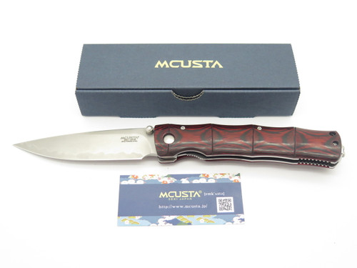Mcusta Seki Japan Red Bamboo Limited Blade Show 2018 8PG2 Folding Pocket Knife