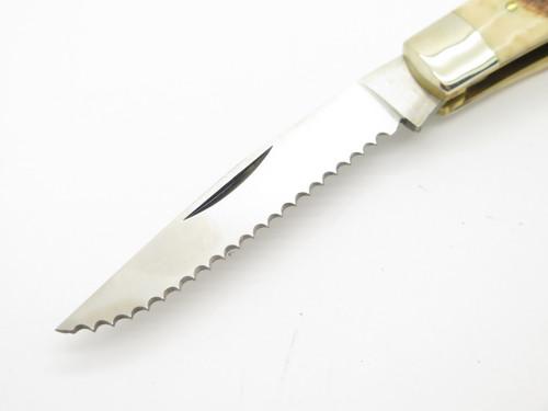 Vtg Parker Rancher Seki Japan Stag Moose Trapper Folding Pocket Knife
