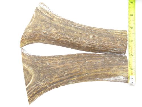 USA 6.43 x 1.81 ELK STAG ANTLER KNIFE MAKING HANDLE SCALE PISTOL GRIP BLANK SLAB