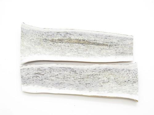 USA 6.3 x 2.1 ELK STAG ANTLER SCALE SLAB KNIFE MAKING HANDLE GRIP BLANK PAIR