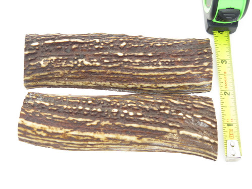 USA 5.3 x 1.5 ELK STAG ANTLER KNIFE MAKING HANDLE SCALE PISTOL GRIP BLANK SLAB