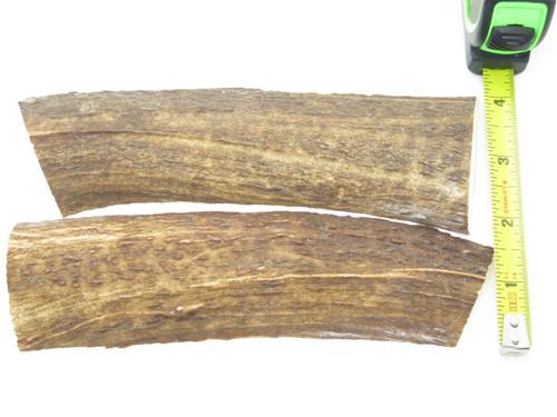 USA 6.2 x 1.7 ELK STAG ANTLER KNIFE MAKING HANDLE SCALE PISTOL GRIP BLANK SLAB
