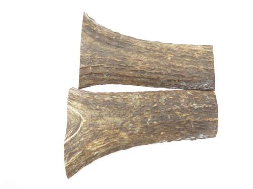 USA 5.5 x 1.93 ELK STAG ANTLER KNIFE MAKING HANDLE SCALE PISTOL GRIP BLANK SLAB