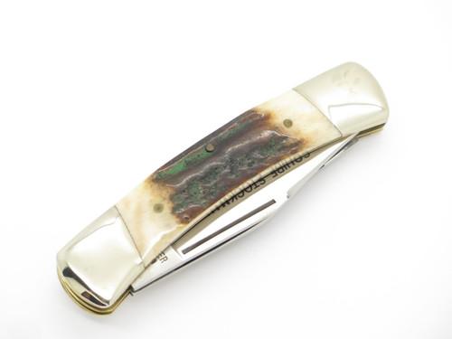 Vtg Gutmann Explorer 11-389 Seki Japan Squire Stockman Stag Folding Pocket Knife