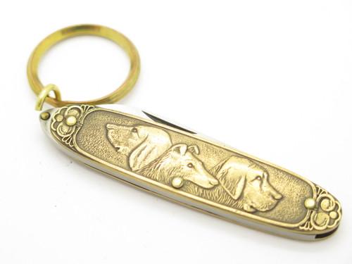 Vintage Parker Outdoors World Seki Japan Dog Keychain Gentleman Folding Pocket Knife