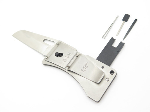 SOG ORIGINAL ACCESS CARD SEKI JAPAN STAINLESS FOLDING POCKET KNIFE MONEY CLIP