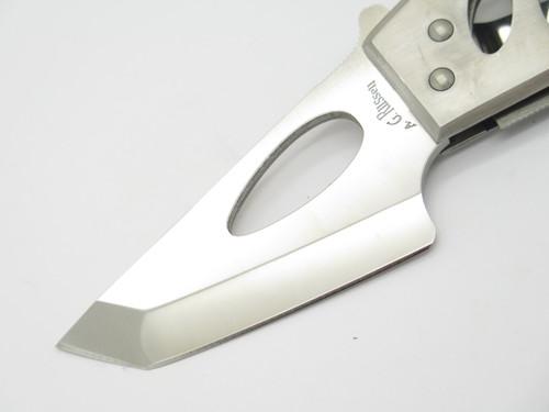 Vtg AG Russell City Knife Seki Japan Stainless ATS-34 Tanto Folding Pocket Knife
