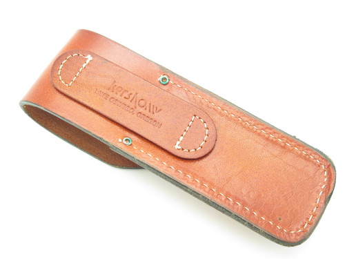 "Kershaw 6.5"" Long Big Leather Folding Hunter Lockback Knife Sheath"