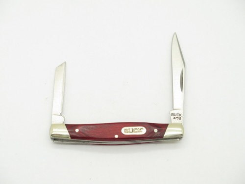 BUCK 375 DEUCE LIMITED RED PAKKAWOOD HANDLE SMALL FOLDING POCKET KNIFE