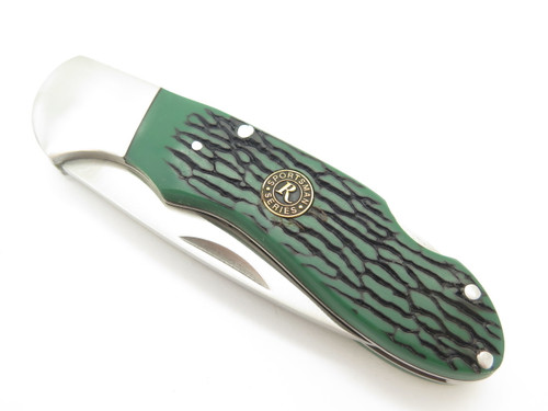 Remington 200th Anniversary Green Folding Hunter Lockback Pocket Knife