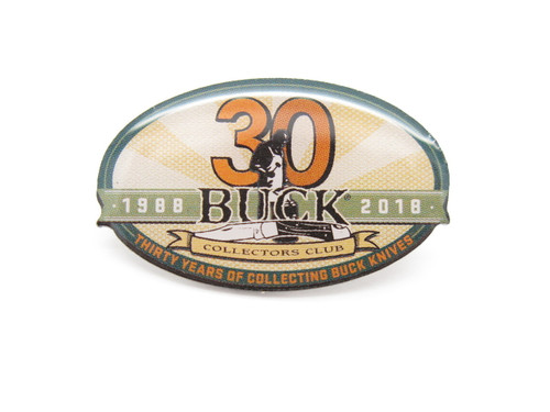 BUCK KNIVES BCCI LOGO 30TH ANNIVERSARY COLLECTOR'S CLUB TIE TACK LAPEL HAT PIN