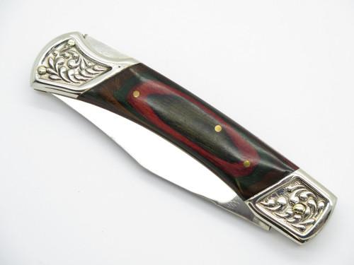 Vtg Old Smoky OS-7 Pakistan Deer Hunter Folding Lockback Pocket Knife