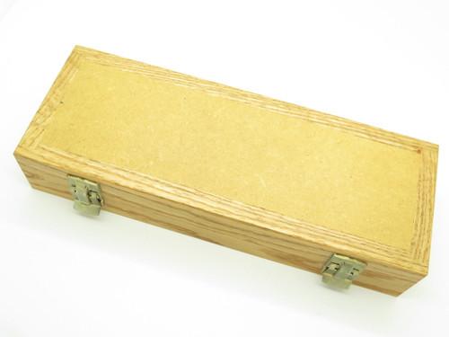 "Oak Wood 11"" Display Case Box Knife Fits Buck 110 112 192 Fixed Folding Knife"