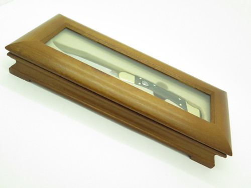 Buck Glass Top Wood Display Case For Buck 110 111 Folding Hunter Knife