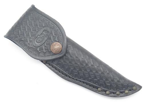 CASE XX 523-3 1/4 FIXED BLADE BLACK BASKETWEAVE LEATHER KNIFE SHEATH