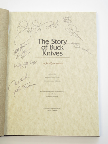 1991 TOM ABLES THE STORY OF BUCK KNIVES BOOK SIGNED CJ LORI WBC REMER BCCI +2018