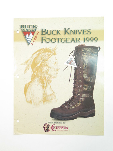 1999 BUCK KNIFE FOOTGEAR DEALER CATALOG BROCHURE PRICE LIST BOOK 110 124 119 184