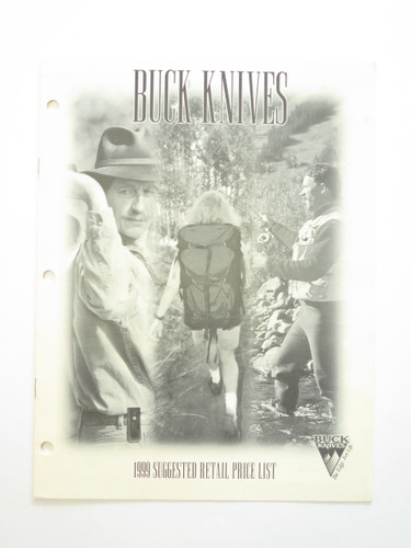 1999 BUCK DEALER KNIFE CATALOG PRICE LIST BOOK FIXED FOLDING 110 124 119 184