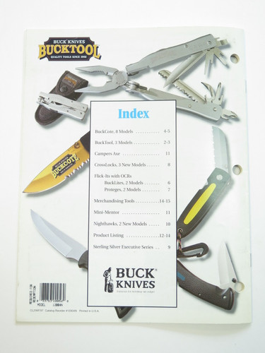 1997 Buck Dealer Knife Catalog Price List Book Fixed Folding 110 124 119