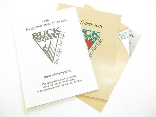 1998 BUCK DEALER KNIFE CATALOG PRICE LIST BOOK FIXED FOLDING 110 124 119 184
