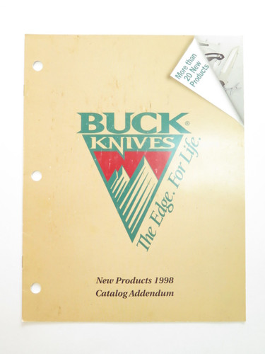 1998 BUCK DEALER KNIFE CATALOG PRICE LIST BOOK FIXED FOLDING 110 124 119