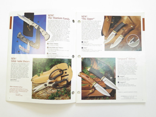 1993 Buck Dealer Knife Catalog Price List Book Fixed Folding 110 124 119