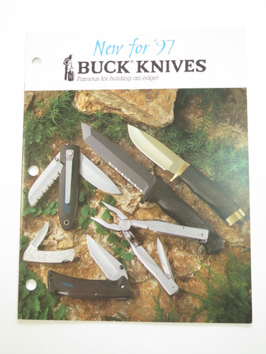 1997 Buck Dealer Knife Catalog Brochure Book Fixed Folding 110 124 119