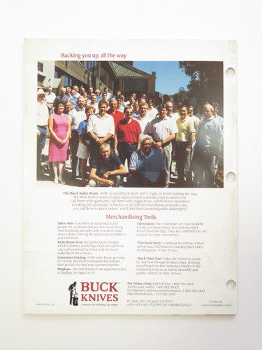 1991 Buck Dealer Knife Catalog Price List Book Fixed Folding 110 124 119