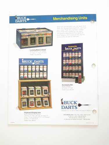 1990 Buck Knives Dealer Dart Catalog Book Fixed Folding 110 124 119 184