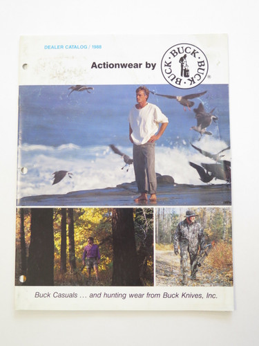 1988 BUCK KNIVES ACTIONWEAR CLOTHING DEALER CATALOG BROCHURE 110 124 119