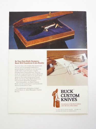 1988 BUCK CUSTOM KNIFE DEALER CATALOG PRICE LIST FIXED STAG 110 124 119 184