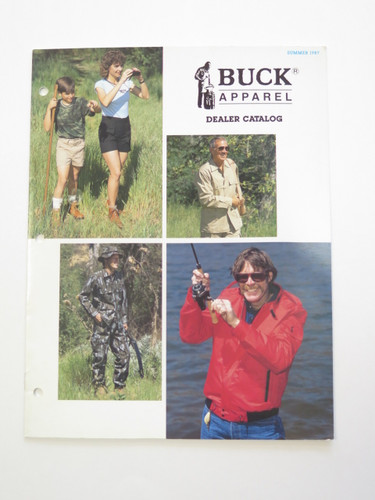 1987 Buck Knives Apparel Clothes Dealer Catalog Book Brochure 110 124 119
