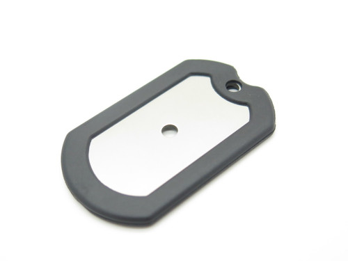 ARS Military ID Dog Tag Emergency Survival Signal Neck Knife Stainless Key Chain
