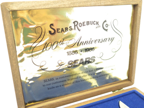 Vintage 1986 Sears Craftsman 100 Year Anniversary Camillus Trapper Folding Knife