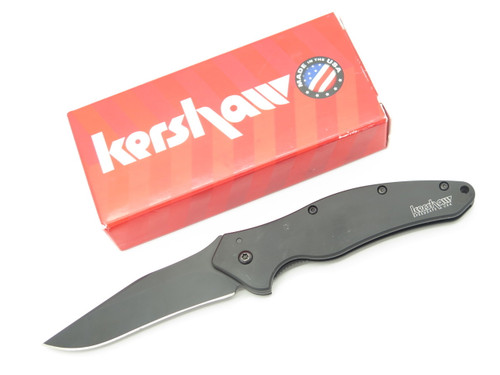 KERSHAW USA 1840CKT SHALLOT KEN ONION ASSISTED BLACK FOLDING POCKET KNIFE