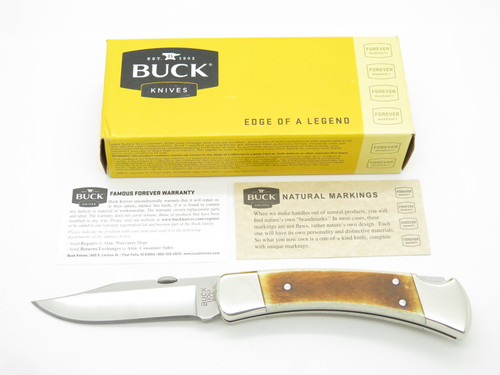 Buck 110 110BNSSM4 Custom Torch Bone Pocket Clip Folding Hunter Lockback Knife
